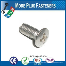 Made in Taiwan ISO 7047 Philips Oval Head Countersunk Grade 4 8 Carbon Steel Zinc Plated
