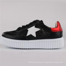 Mulheres Sapatos PU / Couro / Malha Sapatos Casuais Snc-65003-Blk