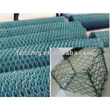 malha de arame hexagonal revestida de pvc (fábrica)