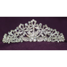 Qualitäts-Art- und Weiselegierungs-kundenspezifische glänzende Kristallbrautkrone-Hochzeits-Tiara