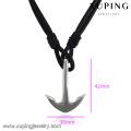 necklace-00265 XP мода из нержавеющей стали ювелирные изделия кожа простой дизайн якорное ожерелье для мужчин