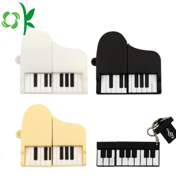 Söt Piano Shape Silikon USB Stoft Cover Case