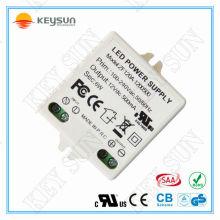 Fuente de alimentación de voltaje constante 12V 6W conductor llevado CV