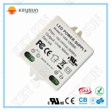 Constant voltage power supply 12V 6W CV led driver