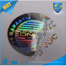 Good quality anti fake hologram id security sticker void seal