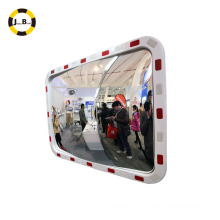 o espelho convexo reflexivo elíptico da segurança do espelho elimina pontos cegos o acidente de tráfico do aviod