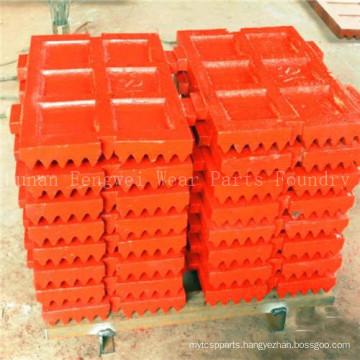 OEM High Manganese Steel Jaw Plate for Crusher Jm907