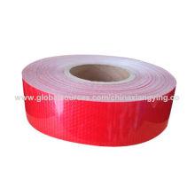 Fita de segurança reflexiva de cor vermelha com material Pet