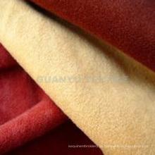 Tecido de poliéster composto de camurça de malha para sofá