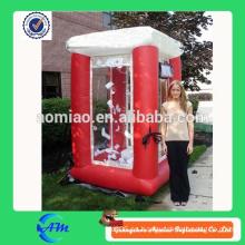 Buena calidad inflable roja de la máquina de efectivo para la venta