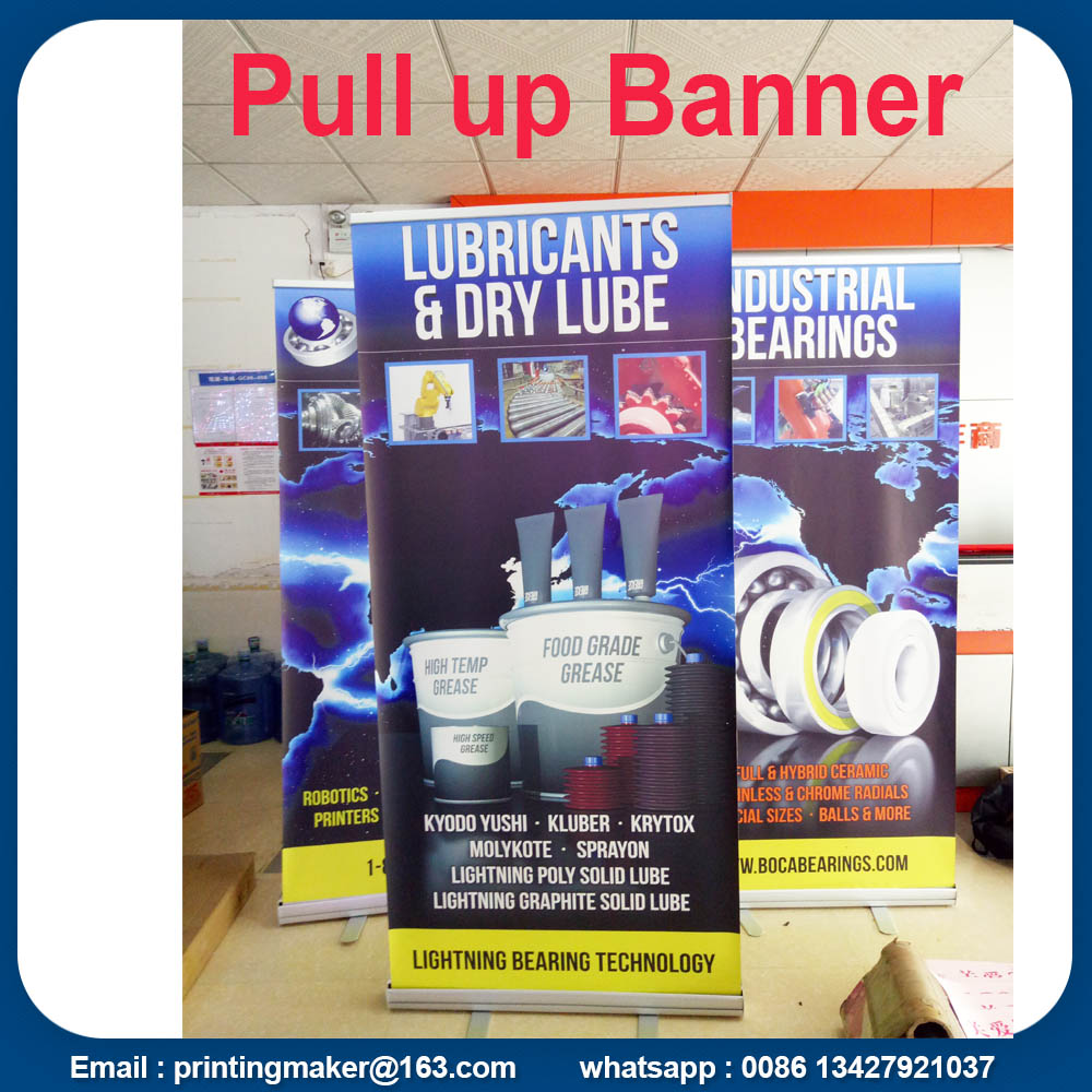 Aluminium Tarik Up Stand Banner Bercetak Retractable