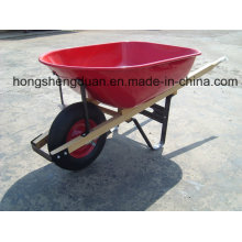 Europa Modelo De Madeira Handle Wheel Barrow
