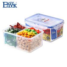 Caixa de almoço em plástico com 4 compartimentos porta-isolamento com camada de 1200ml
