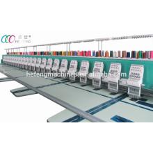 Alta velocidade 24 cabeças máquina de bordar plana computadorizada com servo motor