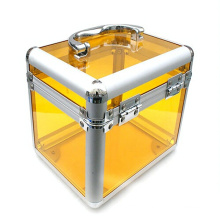 The Yellow High Quality Acrylic Make up Cases (hx-q047)