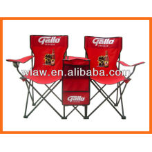 folding double chair with cooler box ang table