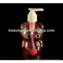 Botella plástica del ANIMAL DOMÉSTICO, botella desinfectante de la mano