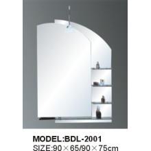Miroir de salle de bains en verre argenté d'épaisseur de 5mm (BDL-2001)