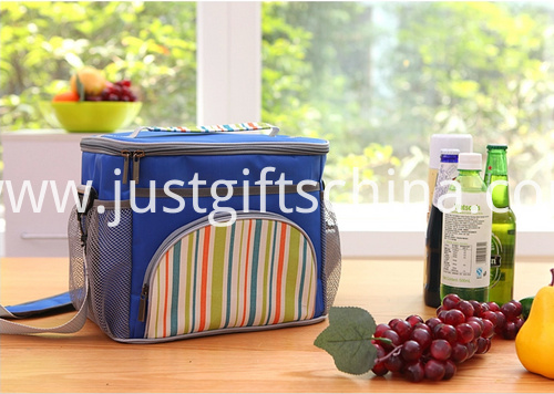 Promotional 600D Striped Cooler Bags W Strap (3)