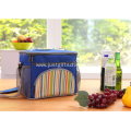 Promotional 600D Striped Cooler Bags W/ Strap