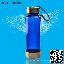 Botella plástica de 650ML, botella de agua de los deportes, botellas de la bebida