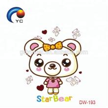 Etiqueta feita sob encomenda do tatuagem dos miúdos com os animais dos desenhos animados para o dia das crianças