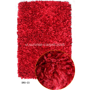 Polyester Feather thun lụa rậm Rug