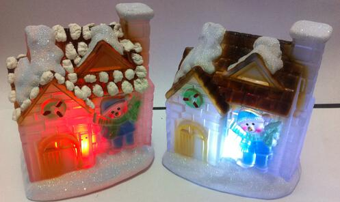 LED Christmas present christmas village houses