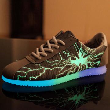 2016 New Style Fashion LED PU Shoes