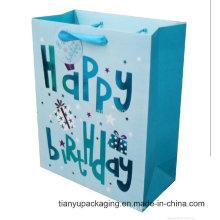 Kundenspezifische geprägte starke Art-Farben-Papiertaschentasche Neueste Papiertüte