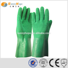 SUNNYHOPE Latex on Palm Coated back open gloves factory gloves