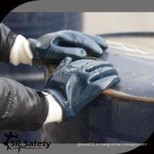 SRSAFETY Лучшие трикотажные нитки нитриловые перчатки / нитриловые перчатки синие