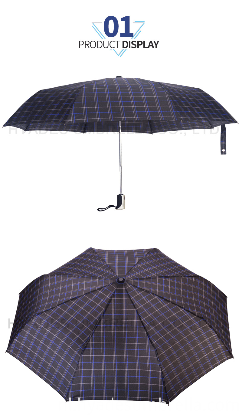 Product Descrption Page Check Print 3 Folding Umbrella Details