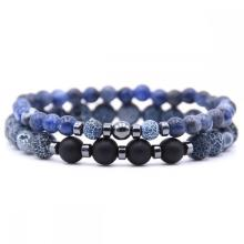 2PCS 6mm&8mm natural stone bracelet