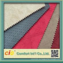 China alta calidad 100% poliester broncear a tela de gamuza