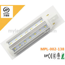 Nouveau conducteur isolé 9w G24 / G23 / E27 led PL lumière blanc chaud blanc frais pour choisir