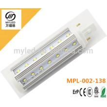New isolated driver 9w G24/G23/E27 led PL light warm white cool white for choosen