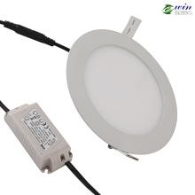 TUV / UL Round 10W Panel de luz LED con 180 mm de diámetro