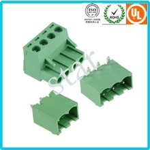 Custom 5.08 mm Pitch Pluggable 3 Pin Green PCB Terminal Block
