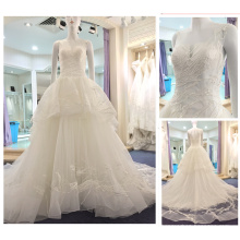 Vestidos De Noiva 2016 See Though Corset Lace Ball Gown Sleeveless Wedding Dresses Alibaba Tiered Layers Bridal Gown A235
