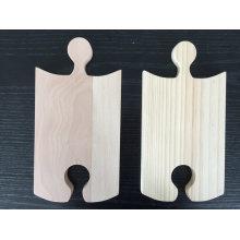 Plateau en bois de partie de puzzle / panneau de service