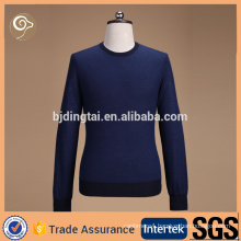 Long sleeve crew neck cashmere sweater men