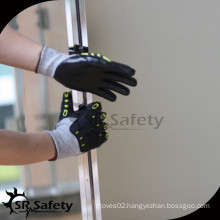 SRSAFETY black nitrile coated Anti-cut work gloves/impact glove/high impact gloves