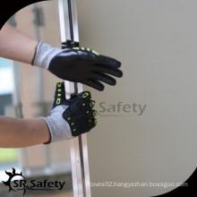 SRSAFETY black nitrile coated Anti-cut work gloves/impact glove/high impact gloves