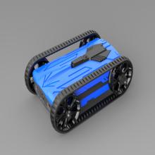 Blue wifi racing battle tank