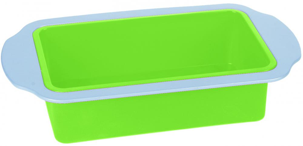 Carbon steel frame silicone loaf pan