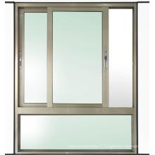 Fenêtre à battants coulissante en aluminium