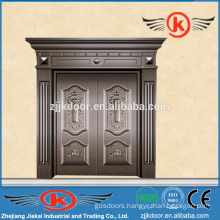 JK-C9027 luxury bronze villa door antique copper door design for sale