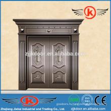 JK-C9027 роскошная бронзовая дверь виллы античная медная дверь дизайн для продажи