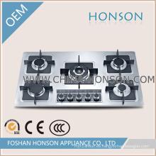 Cocina de gas del acero inoxidable 5 Hornillo de gas HS5816